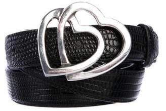 Tiffany & Co. Sterling Lizard Belt