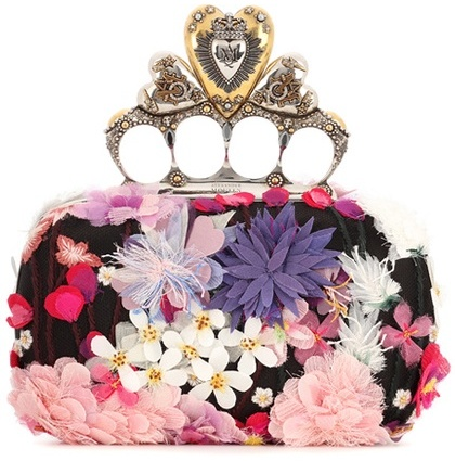 Alexander McQueen Alexander McQueen Embroidered Heart Knuckle Box Clutch