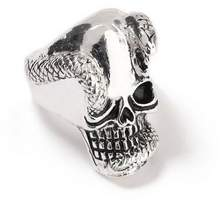 Topman Mens Silver Skull Ring*