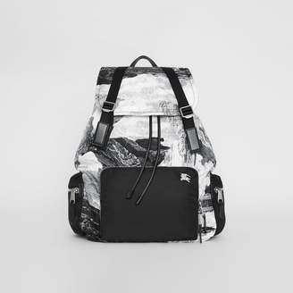 Burberry The Extra Large Rucksack in Dreamscape Print, Black