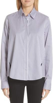 ADAM by Adam Lippes Stripe Cotton Jacquard Trapeze Shirt