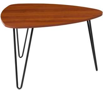 Flash Furniture Charlestown Collection Cherry Wood Grain Finish Coffee Table with Black Metal Legs