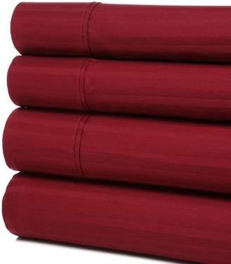 Charlton Home Hollaway 400 Thread Count Premium Long-Staple Combed Cotton Stripe Sheet Set
