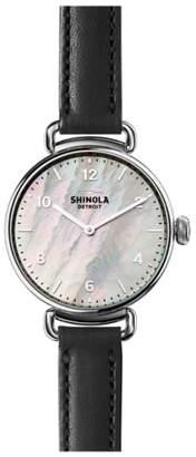 Shinola Canfield Leather Strap Watch, 32mm