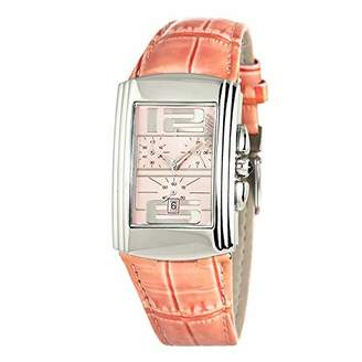 Chronotech Womens Analogue Quartz Watch with Leather Strap CT7018B-02