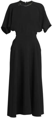 Victoria Beckham Batwing-Sleeve Midi Dress