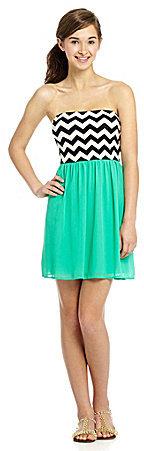 Sequin Hearts Chevron Dress