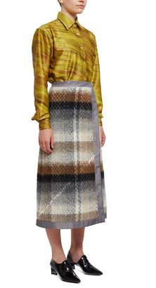 Ribeyron Wool Plaid Skirt
