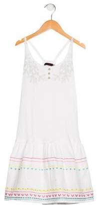 Catimini Girls' Sleeveless Embroidered Dress