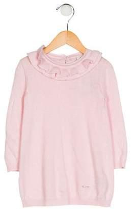 Fendi Girls' Ruffle Knit Sweater w/ Tags