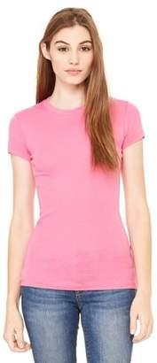 Clementine Apparel Women's Sheer Mini Rib Short-Sleeve T-Shirt