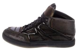 Alejandro Ingelmo Metallic High-Top Sneakers