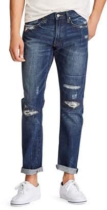 Polo Ralph Lauren Distressed Slim Straight Jeans