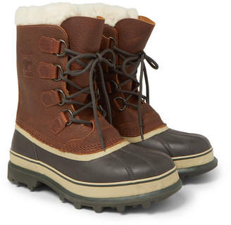 Sorel Caribou Shearling-lined Waterproof Leather Snow Boots
