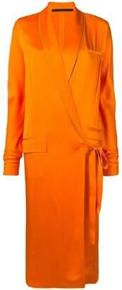 Haider Ackermann tuxedo-style wrap dress