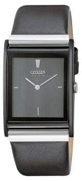 Citizen Men's Eco-Drive Black Crystal Watch