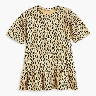 J.Crew Girls' drop-waist dress in leopard