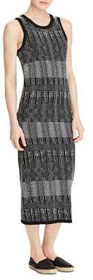 Ralph Lauren Jacquard-Knit Midi Dress