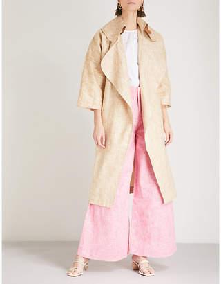 Paper London Assasin linen-blend coat