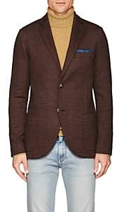 Loro Piana Men's Houndstooth Cashmere-Silk Sportcoat - Brown Pat.