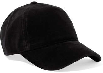 Rag & Bone Marilyn Leather-trimmed Velvet Baseball Cap