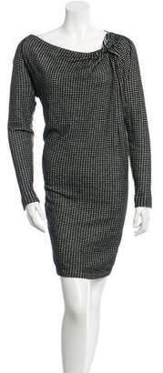 Roland Mouret Patterned Long Sleeve Dress
