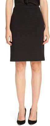 BOSS Vilea Houndstooth Suit Skirt
