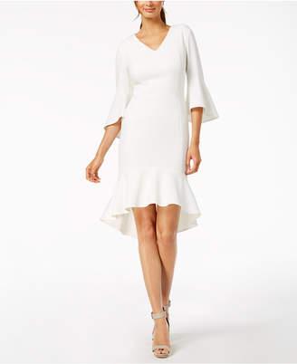 Calvin Klein High-Low Flounce Sheath Dress