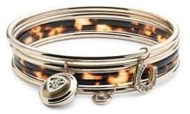 Lauren Ralph Lauren Set of Five Crystal Bangle Bracelet