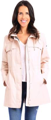 Vince Camuto Hooded Cinched-Waist Jacket