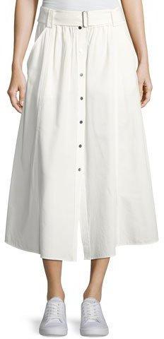 A.L.C.A.L.C. Divya Button-Front Poplin Maxi Skirt