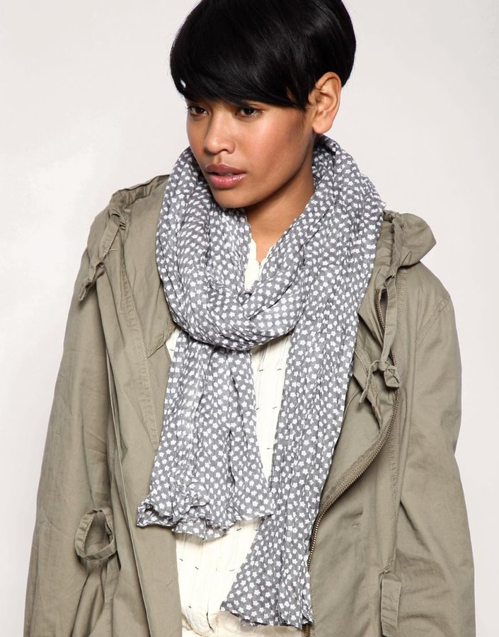 Pieces Small Dot Print Scarf