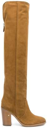 Laurence Dacade round toe suede knee boots