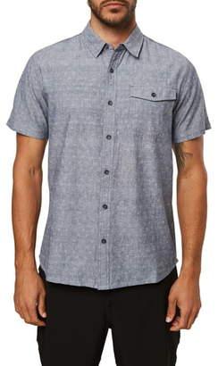 O'Neill Modern Fit Short Sleeve Button-Up Chambray Shirt