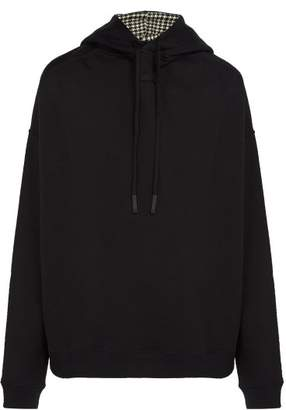 Raf Simons Back To Front Cotton Hooded Sweatshirt - Mens - Black White