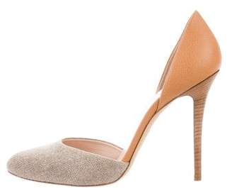 Giorgio Armani Tweed Leather D'Orsay Pump