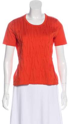 Akris Punto Accented Short Sleeve Top