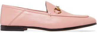 Gucci Brixton Horsebit-detailed Leather Collapsible-heel Loafers - Baby pink