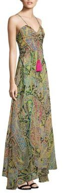 Etro Ruched Silk Maxi Dress $2,260 thestylecure.com