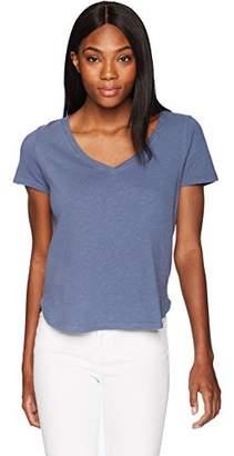 Three Dots Women's Sueded Slub Mid Loose Shirt