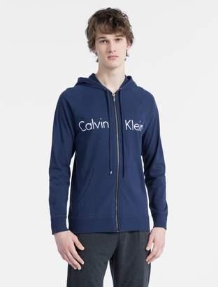 Calvin Klein modern cotton stretch logo zip sweatshirt