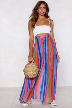 Nasty Gal It's Not Stripe But It's Okay Midi Skirt