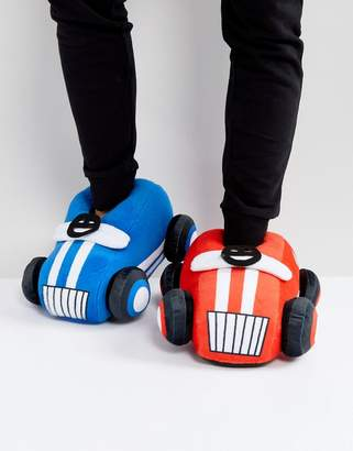 Asos Car Slippers In Red and Blue