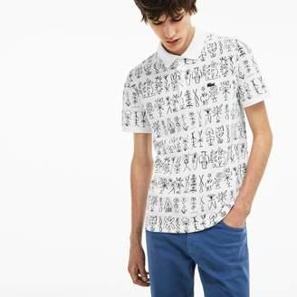 Lacoste Men's Slim Fit Egyptian Print Pique Polo