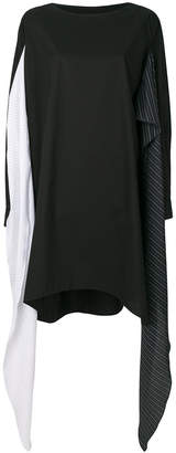 MM6 MAISON MARGIELA asymmetric stripe panel sweater dress