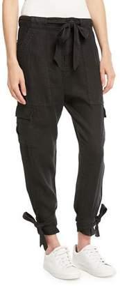 Joie Erlette Cropped Linen Cargo Pants