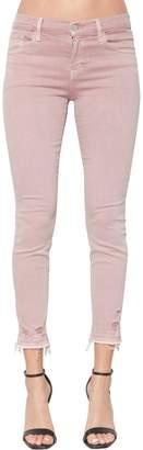 J Brand Destroyed Mid Rise Capri Skinny Jeans