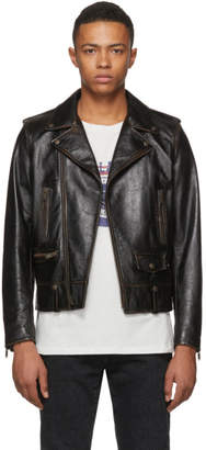 Saint Laurent Black Leather 1971 Jacket