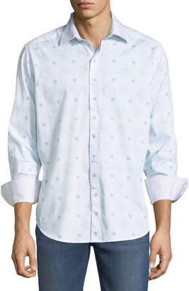 Robert Graham Men's Classic-Fit Elm Canyon Dotted-Paisley Sport Shirt