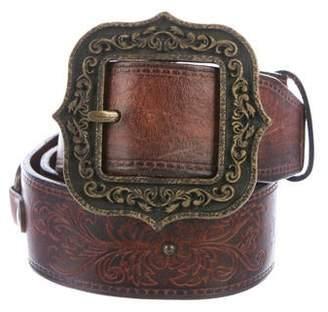DSQUARED2 Leather Logo Belt